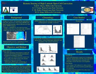 SDWS image open cell convection event locations and histogram of monthly occurrence