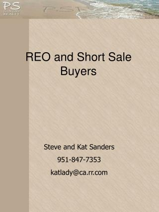 REO and Short Sale Buyers