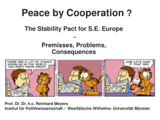 Peace by Cooperation ?