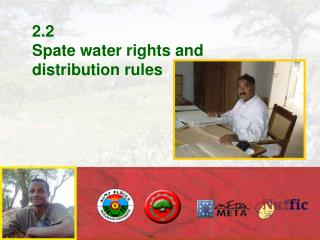 2.2 Spate water rights and distribution rules