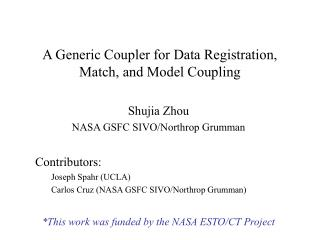 A Generic Coupler for Data Registration, Match, and Model Coupling