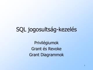 SQL jogosultság-kezelés