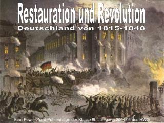 Deutschland von 1815-1848