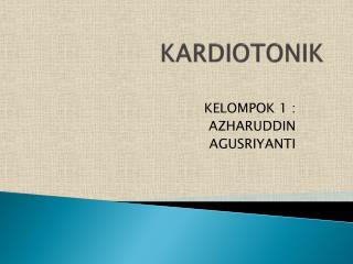 KARDIOTONIK