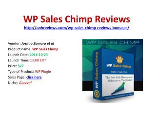Wp Sales Chimp Reviews Bonuses Discount Download