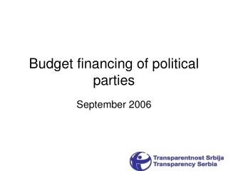 Budget financing of political parties