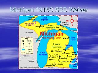 Michigan 1915C SED Waiver