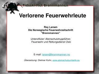 """Roy Larsen Die Norwegische Feuerwehrzeitschrift """"Brannmannen"""""""