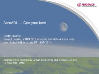 AeroADL — One year later
