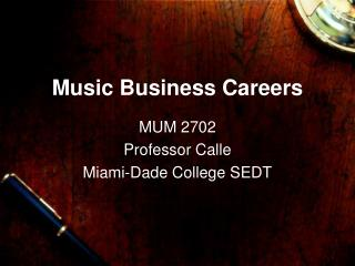 Music Business Careers