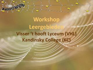 Workshop Leergebieden Visser 't hooft Lyceum (VHL) Kandinsky College (KC)