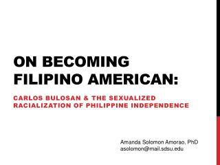 on becoming Filipino American: