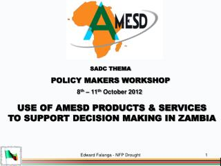 SADC THEMA POLICY MAKERS WORKSHOP