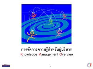 การจัดการความรู้สำหรับผู้บริหาร K nowledge M anagement O verview