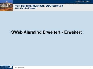 PG5 Building Advanced / DDC Suite 2.0 SWeb Alarming Erweitert