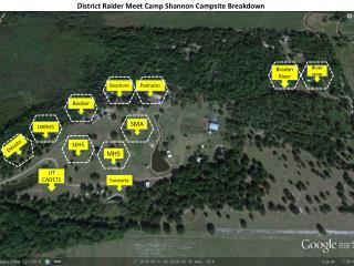 District Raider Meet Camp Shannon Campsite Breakdown