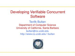 Developing Verifiable Concurrent Software