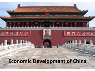 Economic Development of China