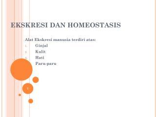 EKSKRESI DAN HOMEOSTASIS