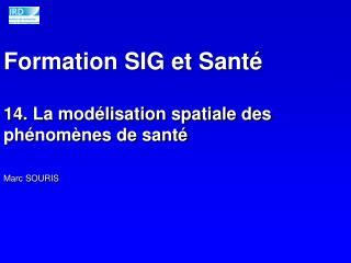 Formation SIG et Santé 14. La modélisation spatiale des phénomènes de santé