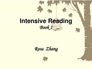 Intensive Reading Book 1