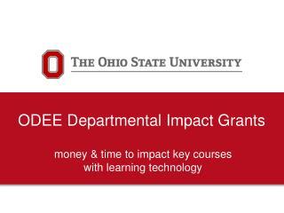 ODEE Departmental Impact Grants