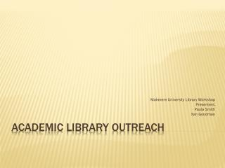 Academic Library Outreach