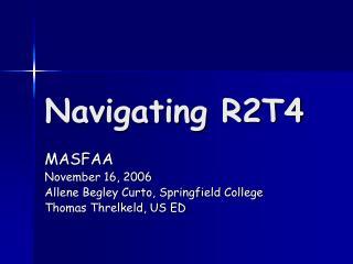 Navigating R2T4