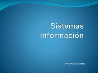 Sistemas Información