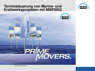 Terminsteuerung von Marine- und Kraftwerksprojekten mit MSP2002