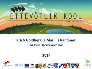 Kristi Goldberg ja Mariliis Randmer Ida -Viru Ettevõtluskeskus 2014