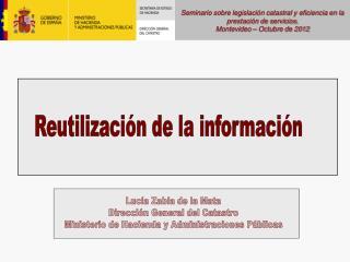 Seminario sobre legislación catastral y eficiencia en la prestación de servicios.