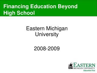 Eastern Michigan University 2008-2009
