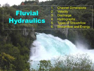 Fluvial Hydraulics