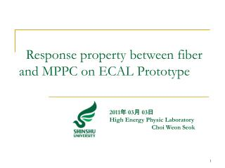 Response property between fiber and MPPC on ECAL Prototype