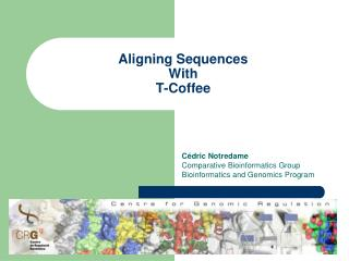 Aligning Sequences With T-Coffee