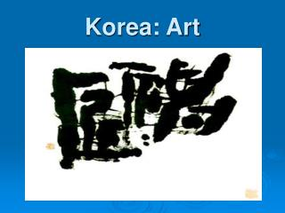 Korea: Art