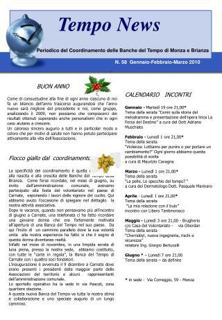 Periodico del Coordinamento delle Banche del Tempo di Monza e Brianza