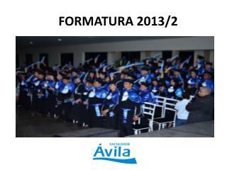 FORMATURA 2013/2