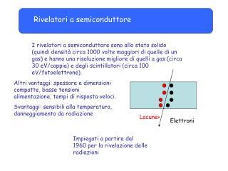 Rivelatori a semiconduttore