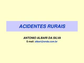 ACIDENTES RURAIS
