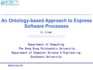 An Ontology-based Approach to Express Software Processes