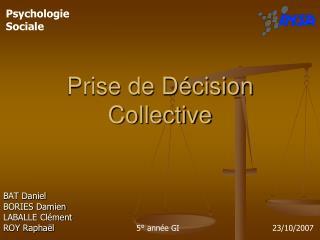 Prise de Décision Collective