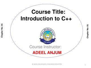 Course Title: Introduction to C++