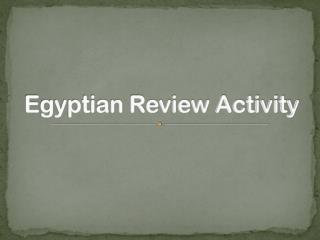 Egyptian Review Activity