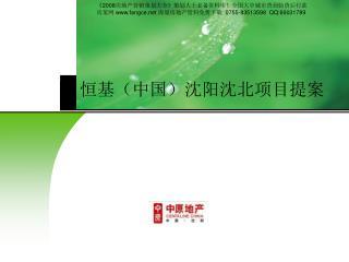 恒基(中国)沈阳沈北项目提案