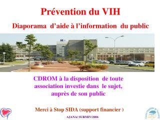 Prévention du VIH Diaporama d'aide à l'information du public