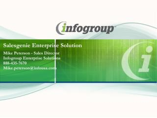 Salesgenie Enterprise Solution