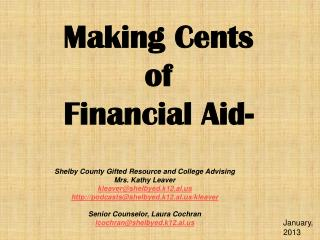 Making Cents of Financial Aid-