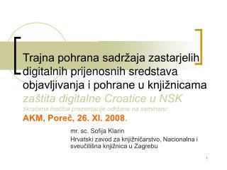 mr. sc. Sofija Klarin